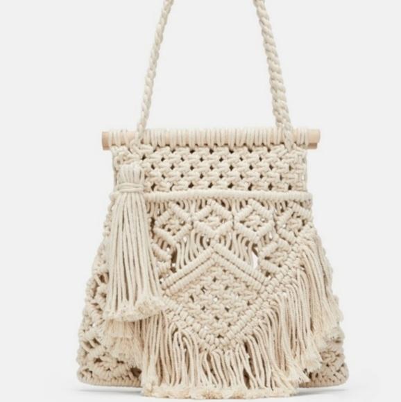 Zara Handbags - Zara handmade fringe bag